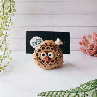 D-13 Chef Eagle Card Holder│Yoshino Hawk x Owl Pottery Decoration Pure Handmade Desk, Desk Stationery Healing Small Things