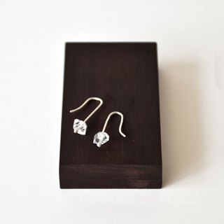 Handmade Herkimer diamond with sterling silver Dangle Earring, April Birthstone