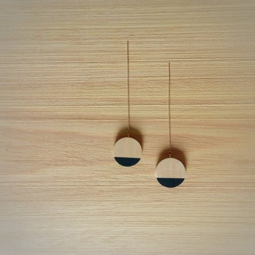 Wooden Earring Circle No.9