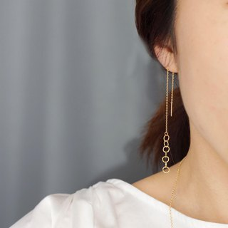 [14KGF] ring ring earrings