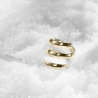 Spiral Promise Ring for Her, Gold Dipped 925 Sterling Silver Ring for Women