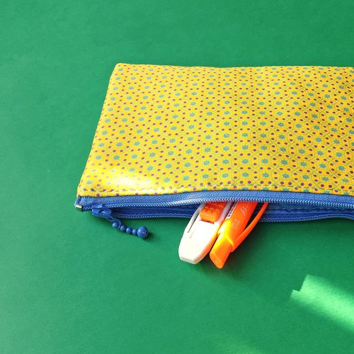 Geometric pattern toiletry bag/pouch