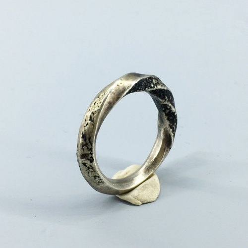 Snake Serpentine Silver Ring