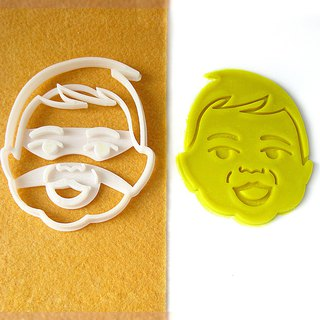 Custom Baby Portrait Cookie Cutter, Personalized with Baby Face. New Baby Gift