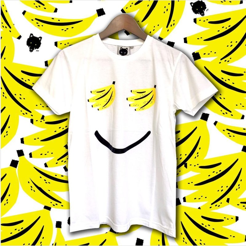 Foxpixel Printed Tee with Smiley Banana