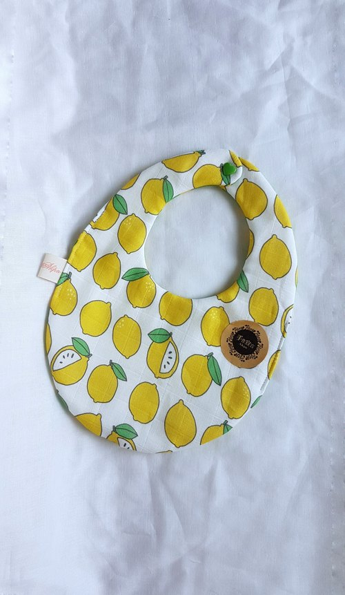 Lyme octopus 100% cotton double-sided egg bib