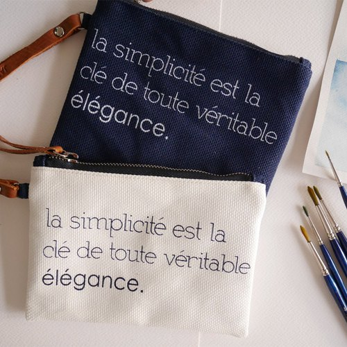 Canvas waterproofing mini purses parisian style