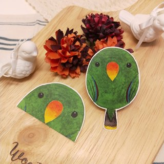 Rolia's hand compromise (male) parrot waterproof stickers