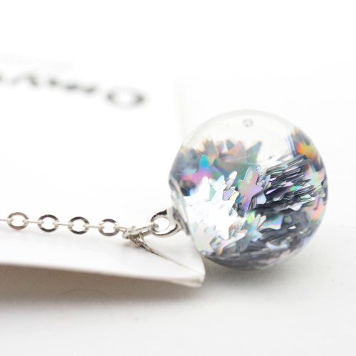 「OMYWAY」Handmade Water Necklace - Glass Globe Necklace 1.4cm