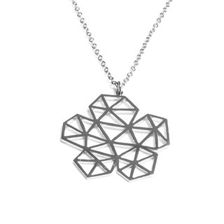 Abstract polygon flower shape pendant