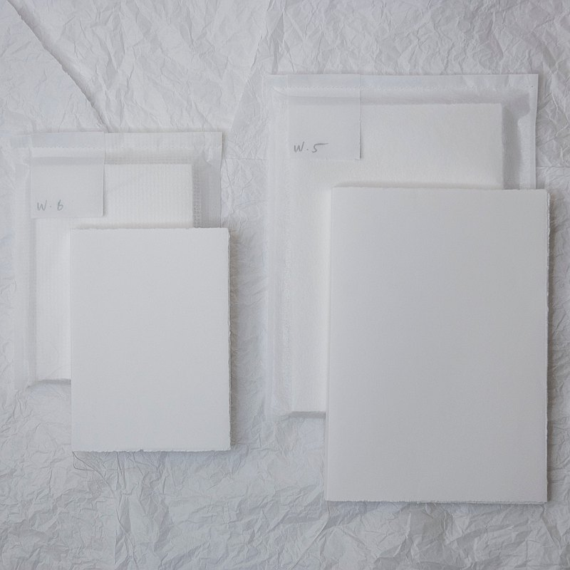 Pure day-A6 all-white notebook
