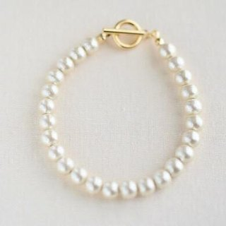 6mm cotton pearl bracelet (kisuka)