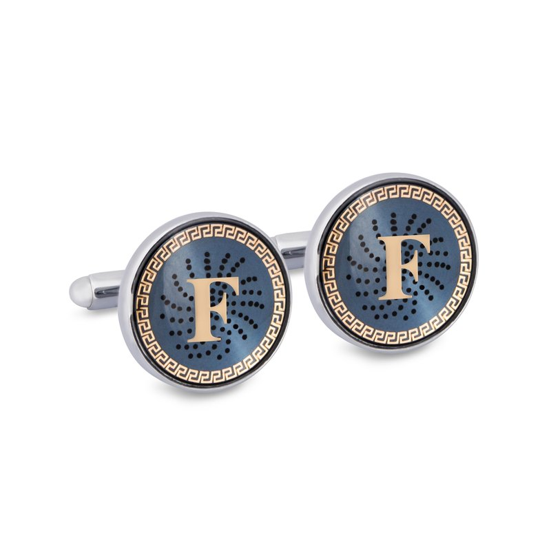 "Monogram ""F"" Cufflinks with Lacquer Finish"