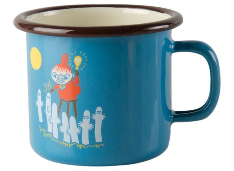 Finnish Moomin Moomin enamel mug 2.5 dl / Christmas gift / gift exchange (Tiffany blue 2016 summer new small US)