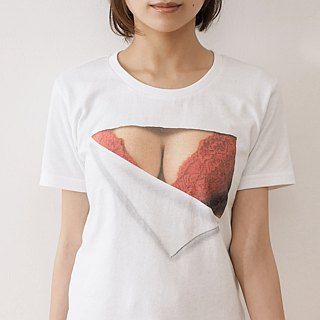 Mousou Mapping T-shirt/ Revival/ Red bra
