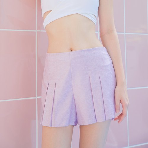 Pleated Shorts - Pink