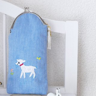 Embroidery pen case Hamaguchi child Goat