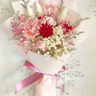 For Dear Hsuan Lee Happy Mummy Butterfly 翩翩 翩翩 康 康 康 Carnation Double-color Carnation Dry Bouquet Limited Mother's Day Elegant Pink Small Card