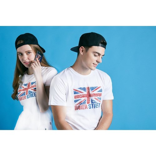 British Fashion Brand [Baker Street] British Printed T-shirt