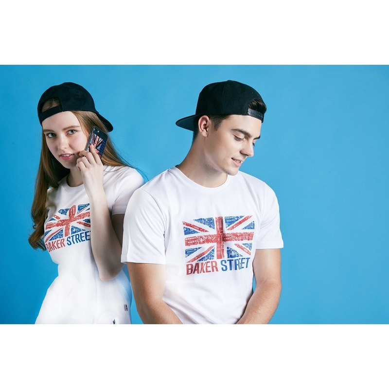 British Fashion Brand -Baker Street- British Printed T-shirt
