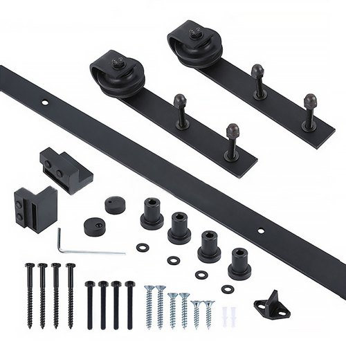 Barn door wooden door fittings slide rail hardware classic (do not pay to install, do not pay for the door) Z067