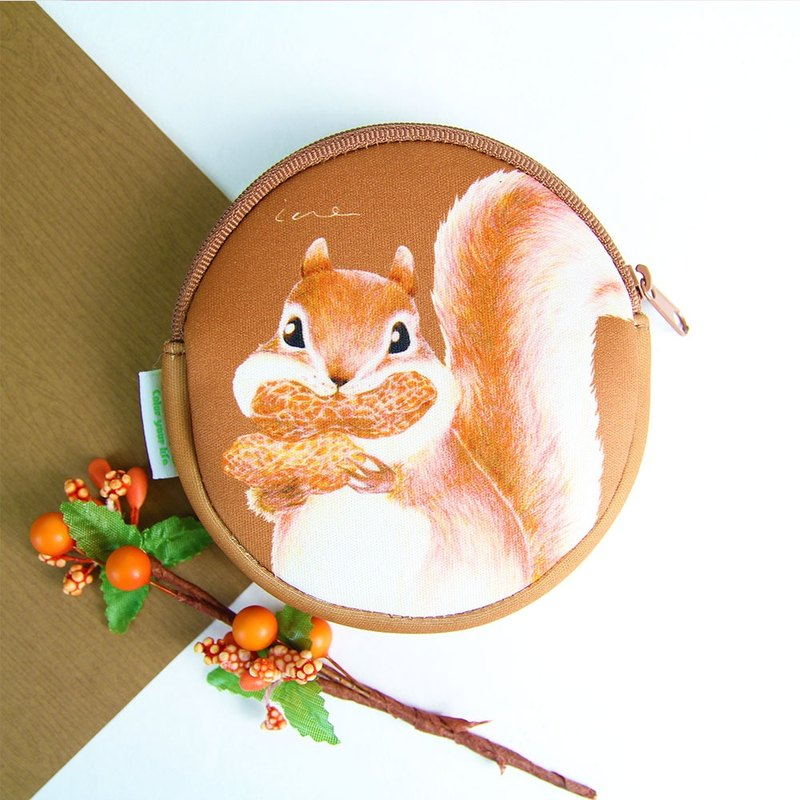 I money brown coin hand painted wind - H10. Squirrel