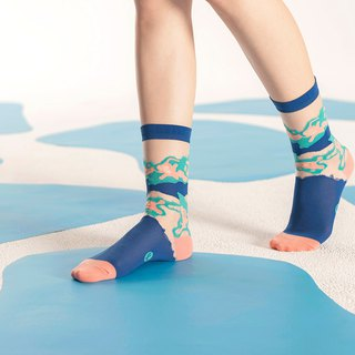 Mudpots Navy Sheer Socks | transparent see-through socks | colorful fun socks