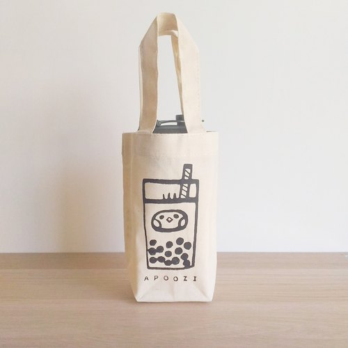 Pearl milk tea seed canvas beverage bag