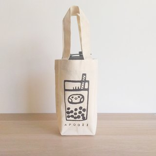 Bubble tea canvas drink bag