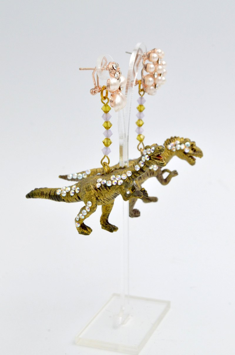 TIMBEE LO Dinosaur Earrings Jurassic Park Underground Treasure Gold Jewel