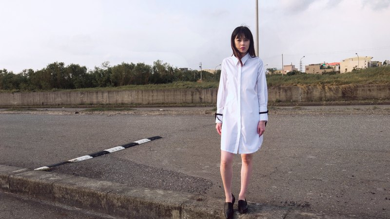 Cath Split Sleeve Shirt Dress