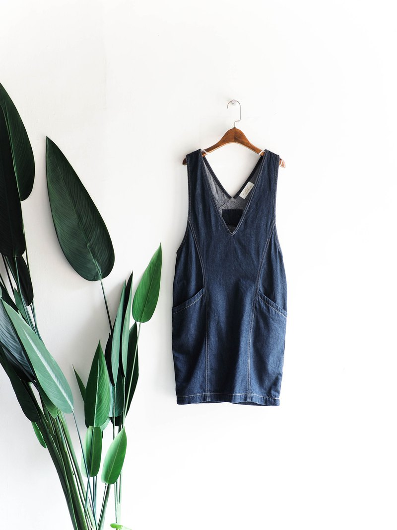 Heshui Mountain - Wakayama Classic Youth Story Dark Blue Antique Taning Harness Shorts overalls oversize vintage dress