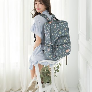 Magazine ‧ thick folder ‧ laptop can be put in large capacity 【waterproof zipper bag inside / chest buckle】 back tofu - Diamond Lime