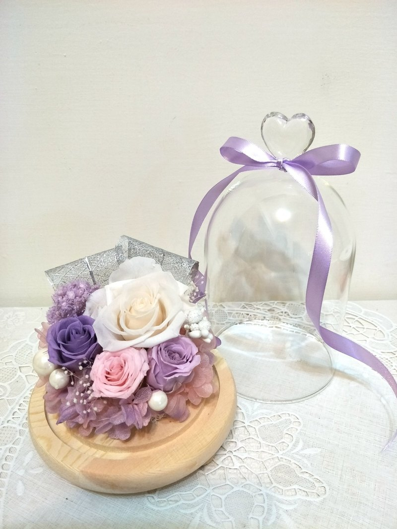 l romantic night glass touch night light - elegant purple l*lover*love*decoration*non-withered flower. star flower. immortal flower * exchange gifts
