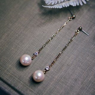 COR-DATE-Chain pendant hanging pearl - Pearl-600