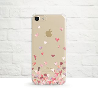 All The Love in The World -Clear Soft Phone Case, iPhone, Samsung