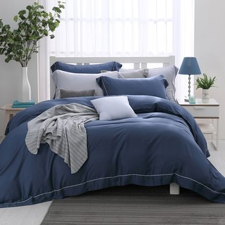 (Double) Quiet Night Color - Solid Color Design Tencel Dual-use Bed Set Four-piece Set [60 Tencel]