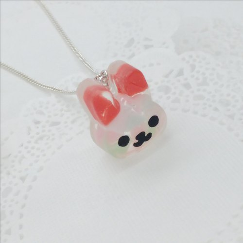 Mosaic Bunny Sterling Silver Necklace