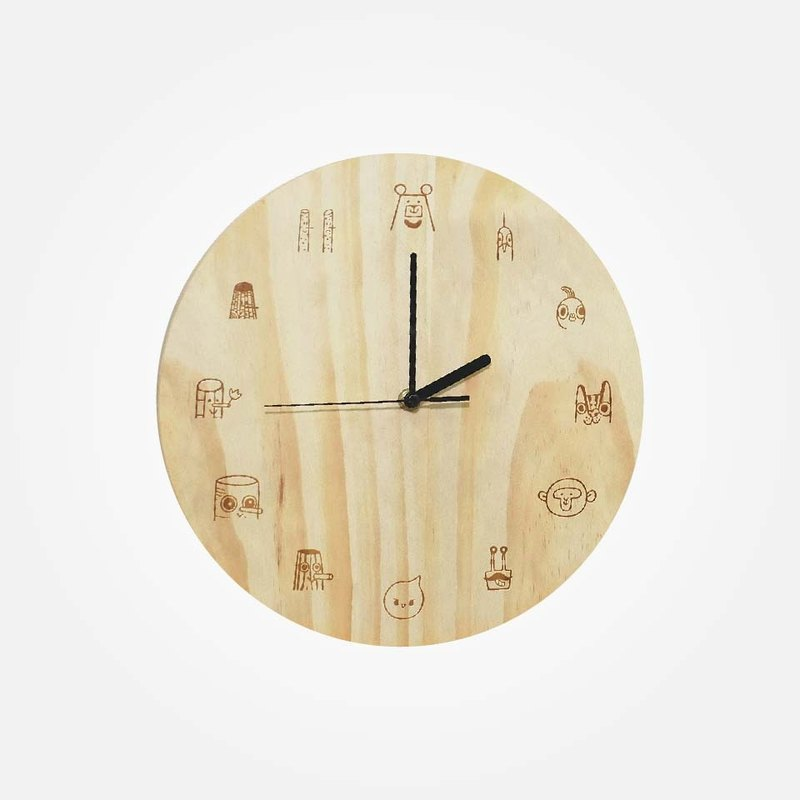 Taiwan Bar All-Stars Wooden Clock