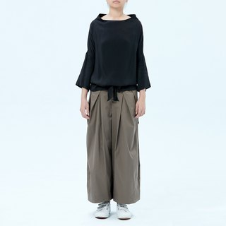 Olive Green Wide Leg Cotton Pants