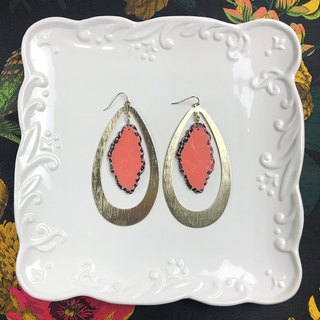 Exaggerated large drops of imitation stone antique earrings BLA033