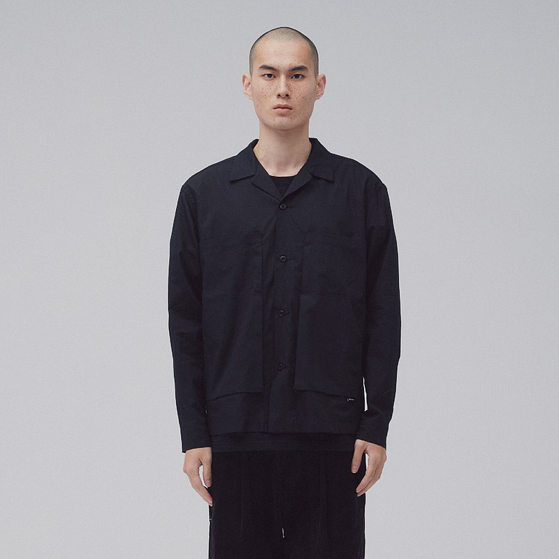 DYCTEAM - Symbiosis - Patch pocket shirt (black)