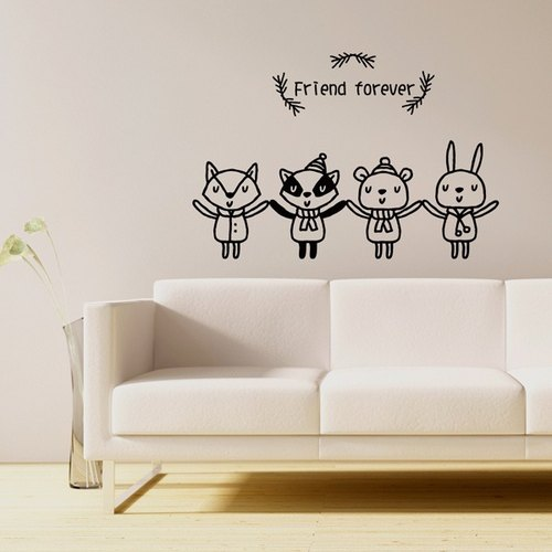 Smart Design Creative wall stickers Incognito ◆ forest friends (8 colors optional)