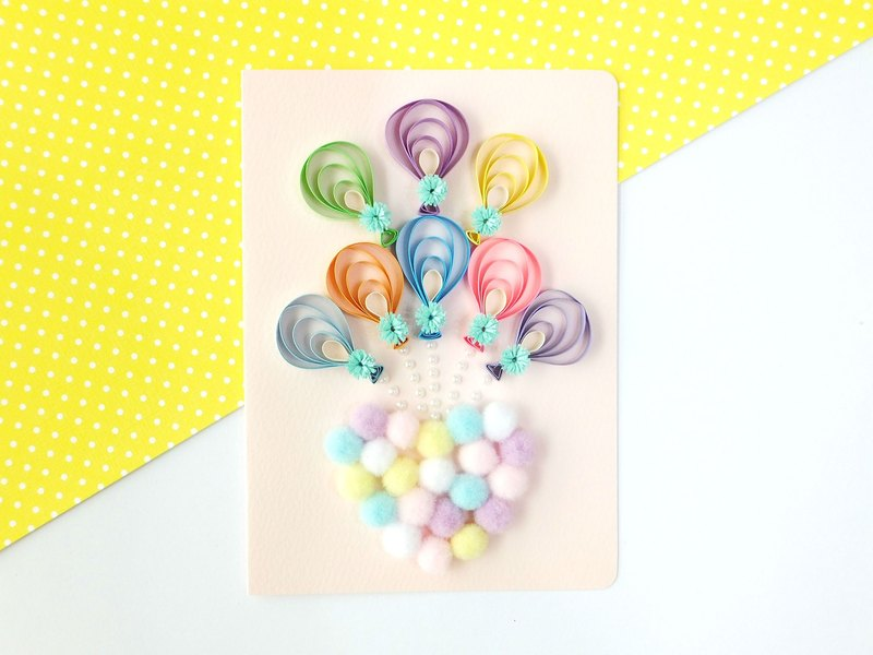 Hand made decorative cards-Color balloon