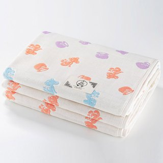 [Made in Japan Sanhe Kapok] Six-gauze quilt - Sweetie Bear L