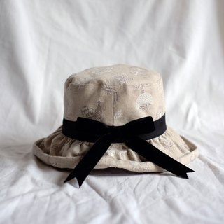 Japanese-style curling fisherman hat / Nordic flower