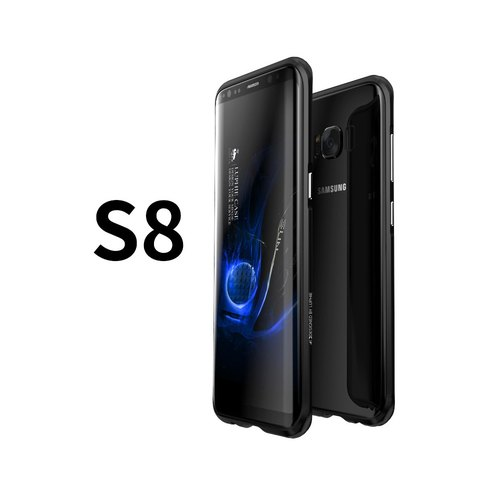 SAMSUNG S8 aluminum magnesium alloy drop metal frame phone shell shell - crystal black