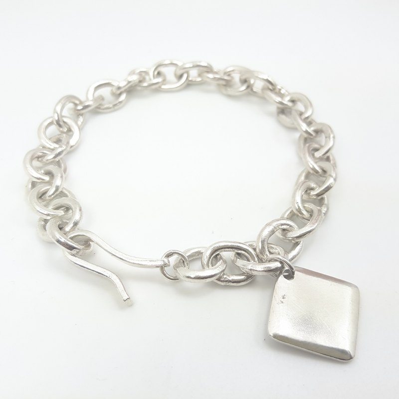Z28 rough fighter generation generation (can be typed) 999 sterling silver bracelet. Customized English alphanumeric.