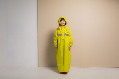 Children's Peak Backpack Space Raincoat - Mustard Yellow