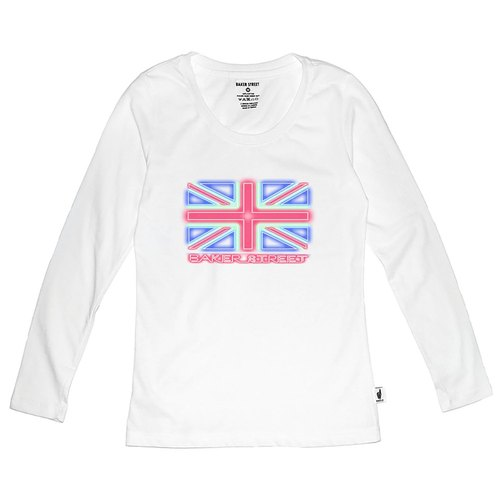 British Fashion Brand 【Baker Street】Union Jack in Neon Long Sleeve